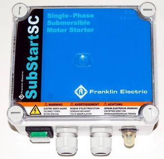 Kondenzátorová skriňa 230V, 1,1kW, SubstartSC SUB-ST PSC-1,1-230-50 Franklin, bez flexošnúry