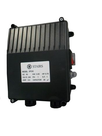 Kondezátorová skriňa BLACK, 2,2kW, 55uF, bez flexošnúry
