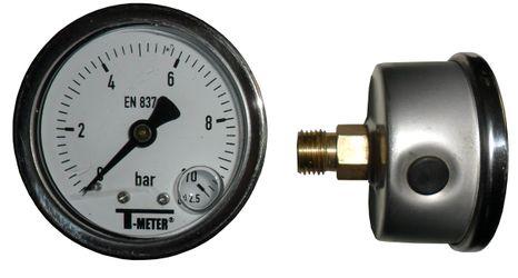 """Manometer GP50 0-10bar, glycerínový, zadný, 1/4"""""""