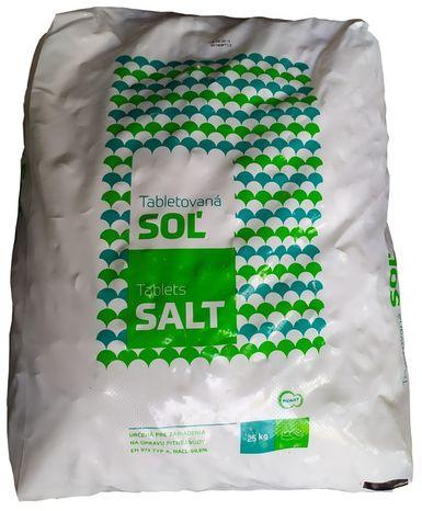Tabletovaná soľ 25 kg balenie
